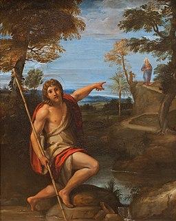 Saint John the Baptist Bearing Witness by Annibale Carracci, CC0, via Wikimedia Commons